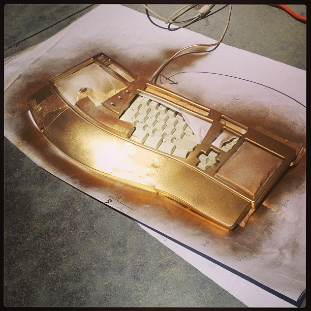 Where there's a will there's a way… #resurrection #gold #keyboard #spraypaint #imsoexcited