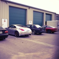 Garage day #350z #civic #bmw #240sx #nissan #instadope