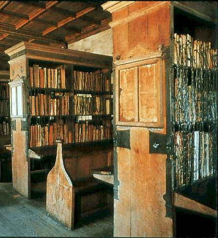 11th Century Library, Hereford Cathedral, England  photo via kathy