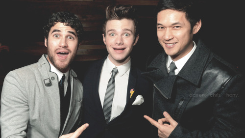 DARREN CRISS. CHRIS COLFER. HARRY SHUM JR. 1366x768 px. © mishule (don't repost!)  HQ VERSION   MY WALLPAPERs DATABASE    Please like or reblog when you download it :)