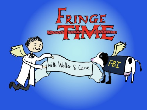 that-is-illogical:  Fringe Time with Walter the Human and Gene the Cow