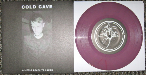 "Cold Cave - ""A Little Death To Laugh"" (Heartworm Press 2012) It took me a while to give into the hype of Cold Cave.  I saw them in 2009 and was like, ""wow this is lame."" That weekend I also saw some of the sickest and best noise bands ever, so I wasn't in a synth-pop mood that day. The hype machine rolled on and they got huge.  I'm gonna level with you, my readers; in my experience, about half of the time a band is super hyped up, they usually deserve the hype.  Generally I'll ignore said hype, but occasionally I'll give in.  Cold Cave certainly deserve all the praise they get.  They know how to write a catchy as fuck synth-pop tune.   The three tracks on this single are further proof of Cold Cave's genius.  Like these songs are so simple, just vocals, drums, and a few synth tracks; but they are perfectly crafted.  Instantly memorable, the titular track will be stuck with me for days.  The second track is a synth pop song delivered at hardcore speed.  I love it.  The final track is an instrumental of spacious synth bells and sounds almost like a Talking Heads song.   This single is more proof to me that Cold Cave will be around for quite some time. -Log."