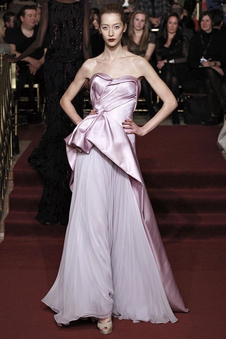 zacposen:  alanna zimmer at the zac posen fall 2013 show    //