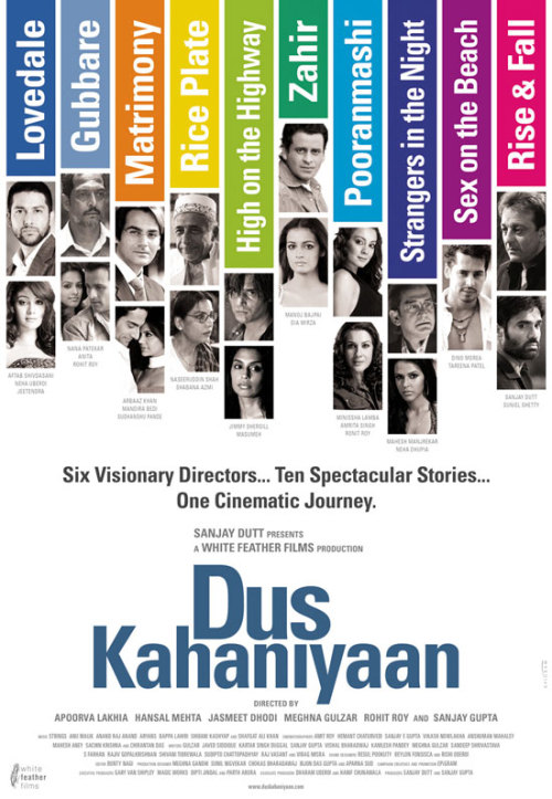 Dus Kahaniyaan (2007)   Six Visionary Directors… Ten Spectacular Stories… One Cinematic Journey.   finally got around watching this! it took me forever to find out what it's called (because i only caught the last two short films on TV) and another forever to actually find a copy (including renting video stores, oh yeah, i've looked everywhere). it's basically a collection of short films, all great actors and all great stories. brilliant cinematography and a really good watch. ah, bollywood at its finest. because i like spoiling you, i took the liberty of striping the internet to find an onine version. you're welcome. on imdb watch full film(s) (via samaikiller)