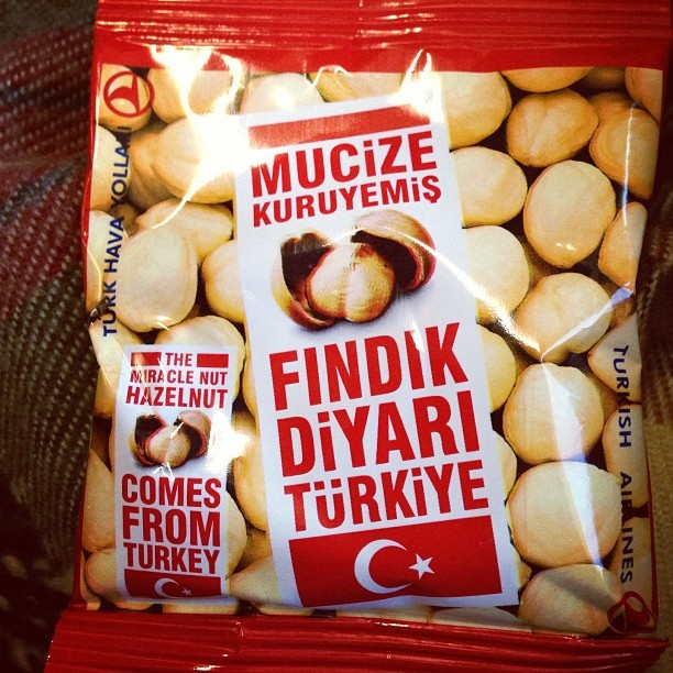 Pretty bold claim that #hazlenut is the #miracle nut. #turkish #airline