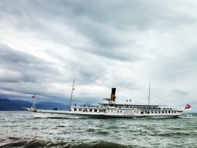 The steamer is out on Lake Geneva again. This technically means that the weather should now be warm and sunny…technically.