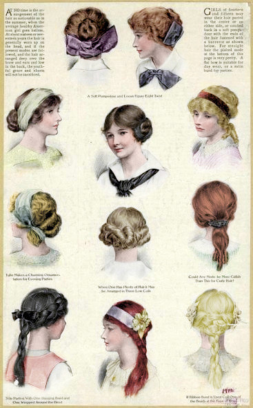 the-edwardian-lady:  Hairstyles for Edwardian teenagers.