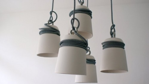 Cable Light by Patrick Hartog Design Erin, contemporist.com Rotterdam-based designer Patrick Hartog has created the Cable Light.DescriptionMooring bollards widely seen on wharves inspired Patrick Hartog to create this ceramic cable lights. The cable is wrapped around the light and gives an unique look to t…