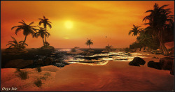 "Check out the Second Life Pic of the Day, ""Sunset at Onyx Isle"" by MαX Rσмєяσ.  http://bit.ly/10KzhFn"