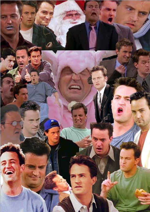 Chandler Bing omg this collage is perfect in every way