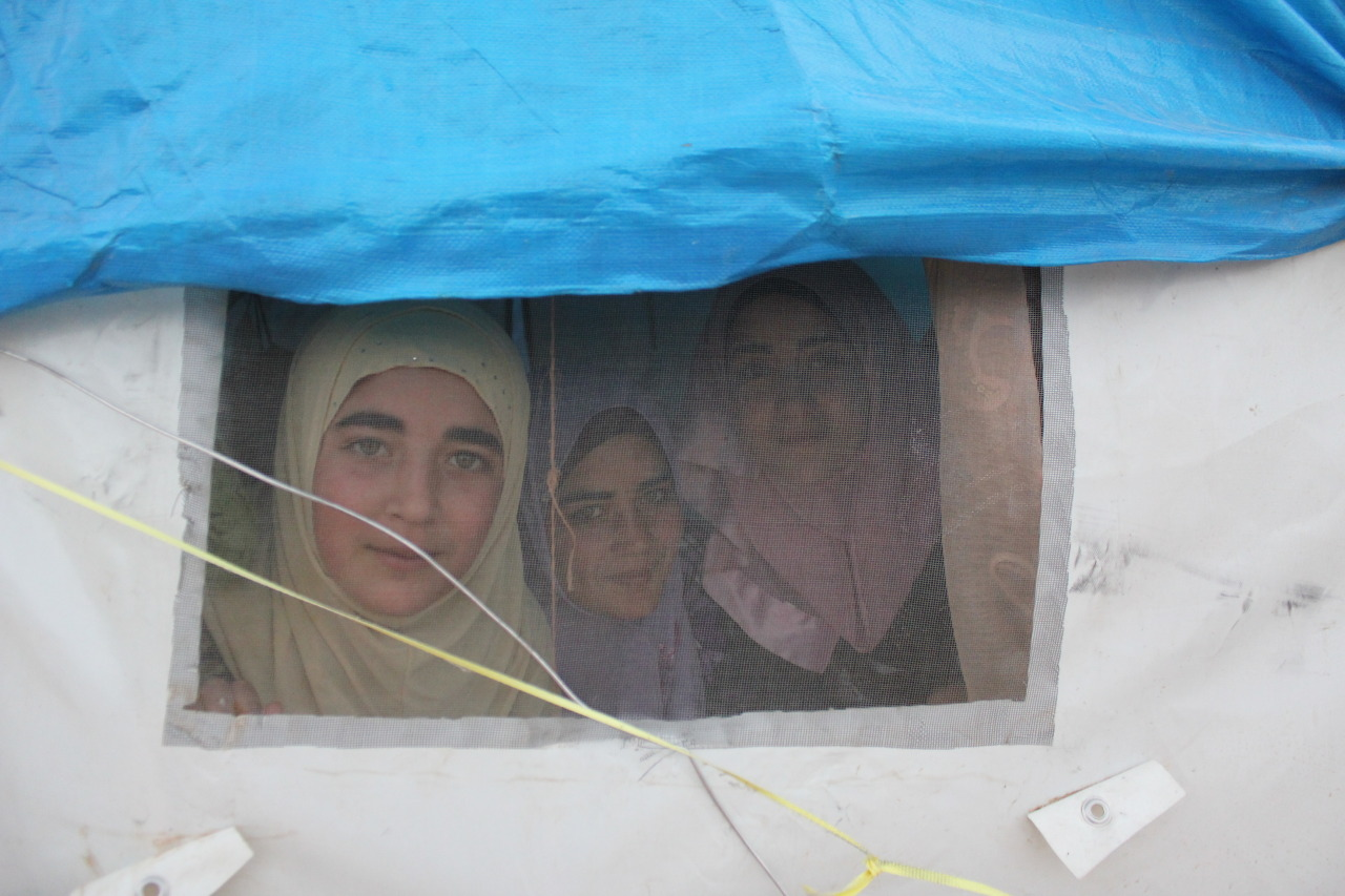 Three sisters from Jebel al Hass in Qah Refugee Camp hope to continue studying Language Arts and eventually teach with their degrees.