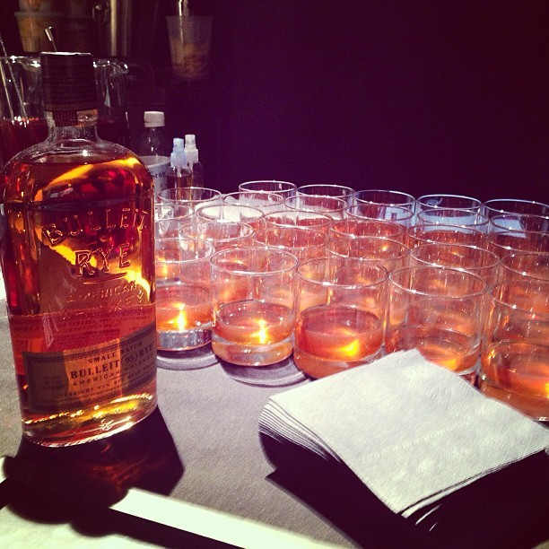 Warming up with a bit of Bulleit. Thank you kindly, @billy_reid #nyfw #attheshows  (at Eyebeam Art + Technology Center)