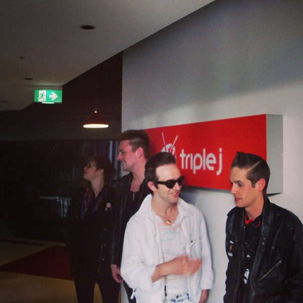 James enjoys his own jokes best… In Melbourne, July 2011, GV X #glasvegasinmelbourne