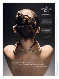'Bring sexy back…' Mint green nails by moi! - Beauty story out now in this months Instyle magazine.
