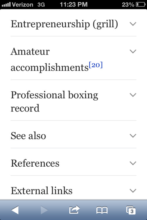 Autobiography via wiki subheadings