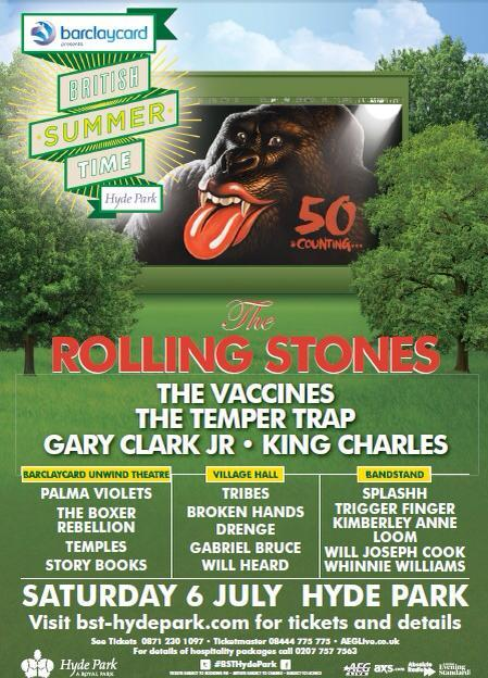Woaaaa I am SO excited to announce I'm gonna be supporting The Rolling Stones in Hyde Park in July atBST Hyde Park. They haven't played there since 1969. This is a dream for me. Please come…