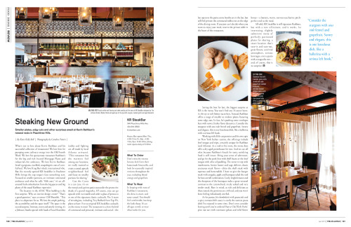 Atlantan Magazine April, 2013 KR Steak Bar