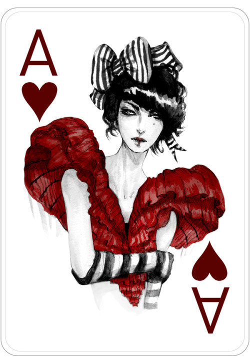artforadults:  more fashion playing cards by connie lim follow connie on tumblr