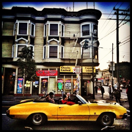 More from the Mission #sanfrancisco #sf #sanfran #mission #convertable #car #yellow #banana #california #igerssf