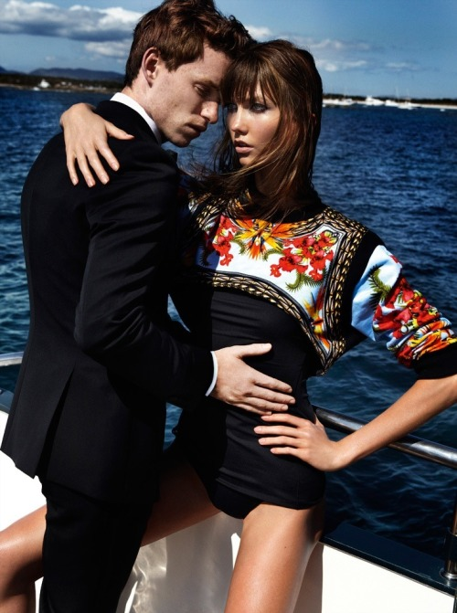 "kloss-karlie:  Karlie and Eddie R. for Vogue US : ""Temptation Island"" by Mario Testino"