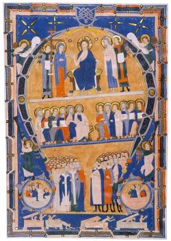 centuriespast:  Last Judgment, in an initial ALeaf from an Antiphonary, in Latin.Italy, probably Florence, ca. 1280Illuminated by the Maestro Geometrico. The Morgan Library