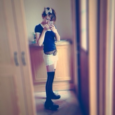 #fashion #favorite #facebook #today #tweet #me #mirror #mother #morning #pick #peace #purpul #day #denim#hair #happy #espoir #ribon #black #blue #今日の服 #今日のコーデ #ファッション #デニム#夏#リボン#ヘアー  (Haiji's home)