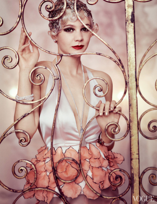 Carey Mulligan as Daisy Buchanan for Vogue.
