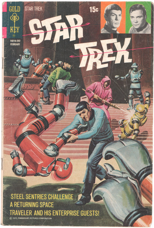 Cover, Star Trek #13 (1972)We received a copy of this as a gift from our friend Ming Doyle and while we've read all these stories in collections over the years, we'd somehow never purchased an individual issue of the series. Thanks, Ming! You're the peachiest.Curious about the story? Here's a rundown over at Curt Danhauser's site.