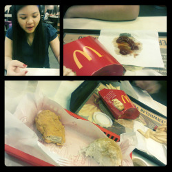21st day of my 365 days of joy: Mc Donald Indulgence! McDo - How can something so bad for you but still you choose to take them in because they are heavenly good?! Anyway a disgusting fastfood crime my sister usually does, putting the ketchup on tissue! >_< :'( please somebody put her on jail! Kidding! Hahahah