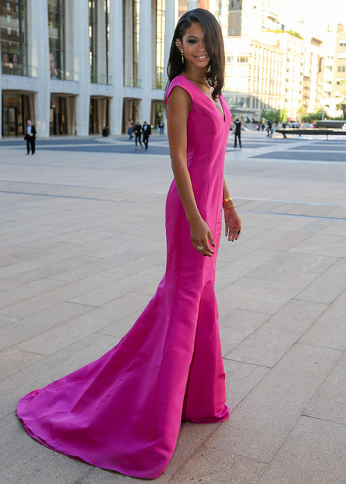 modelsofcolor:  Chanel Iman in Gabriela Cadena at the American Ballet Theatre 2013 Spring Gala.