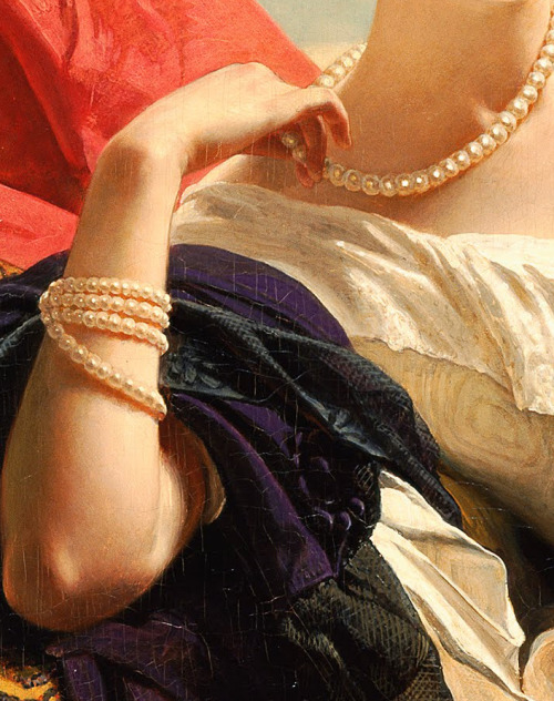 c0ssette:  (Detail) Portrait of Leonilla, Princess of Sayn-Wittgenstein-Sayn,1843,Franz Xaver Winterhalter.