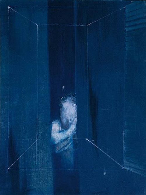 likeafieldmouse:  Francis Bacon - Two Figures at a Window (1953)