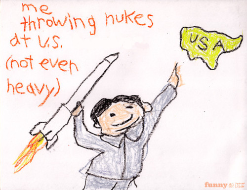 funnyordie:  5 Childhood Drawings by Kim Jong Un North Korea's supreme leader is also a supremely gifted artist.