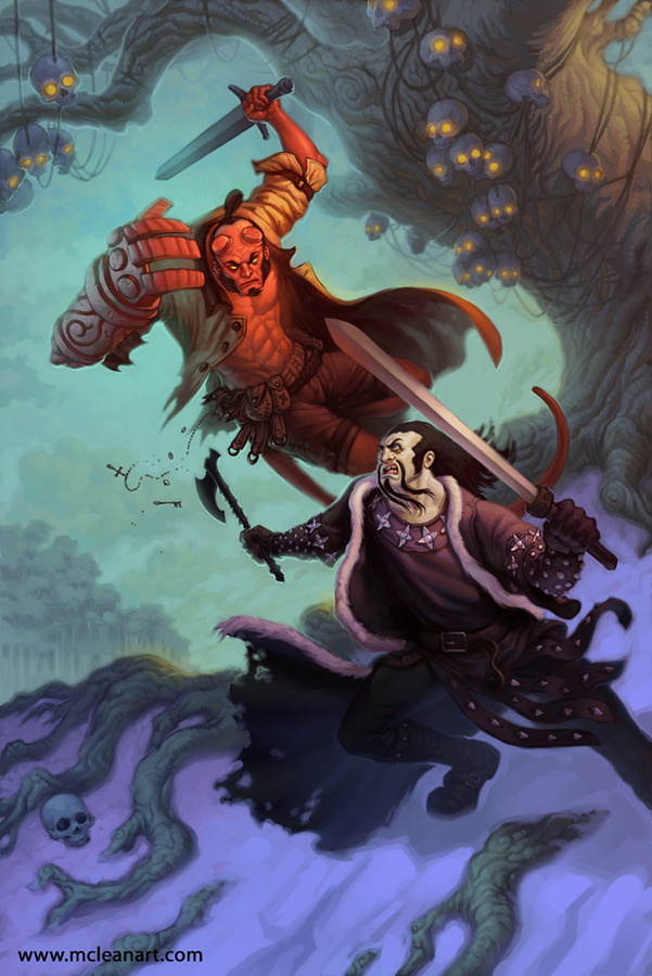 Hellboy vs. Koshchei by McLean Kendree