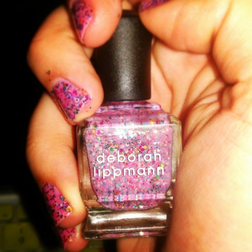 "deborah lippmann's ""candy shop"" is the most fun nail polish of all nail polishes."