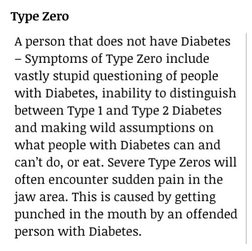 just-a-ugly-diabetic:  Type Zero