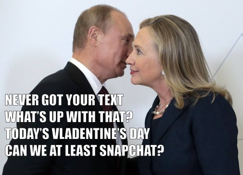 @textfromhillary be my sexy-tary of state tonight? #VladentinesDay