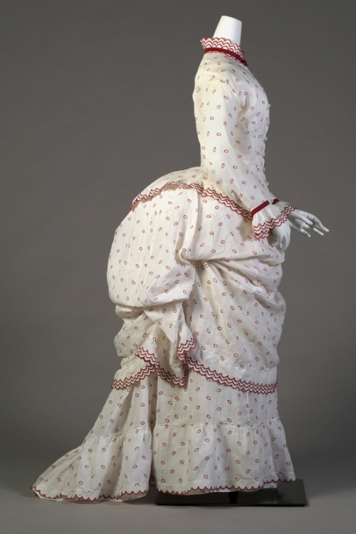 Day dress ca. 1885 From the Kent State University Museum Pinterest