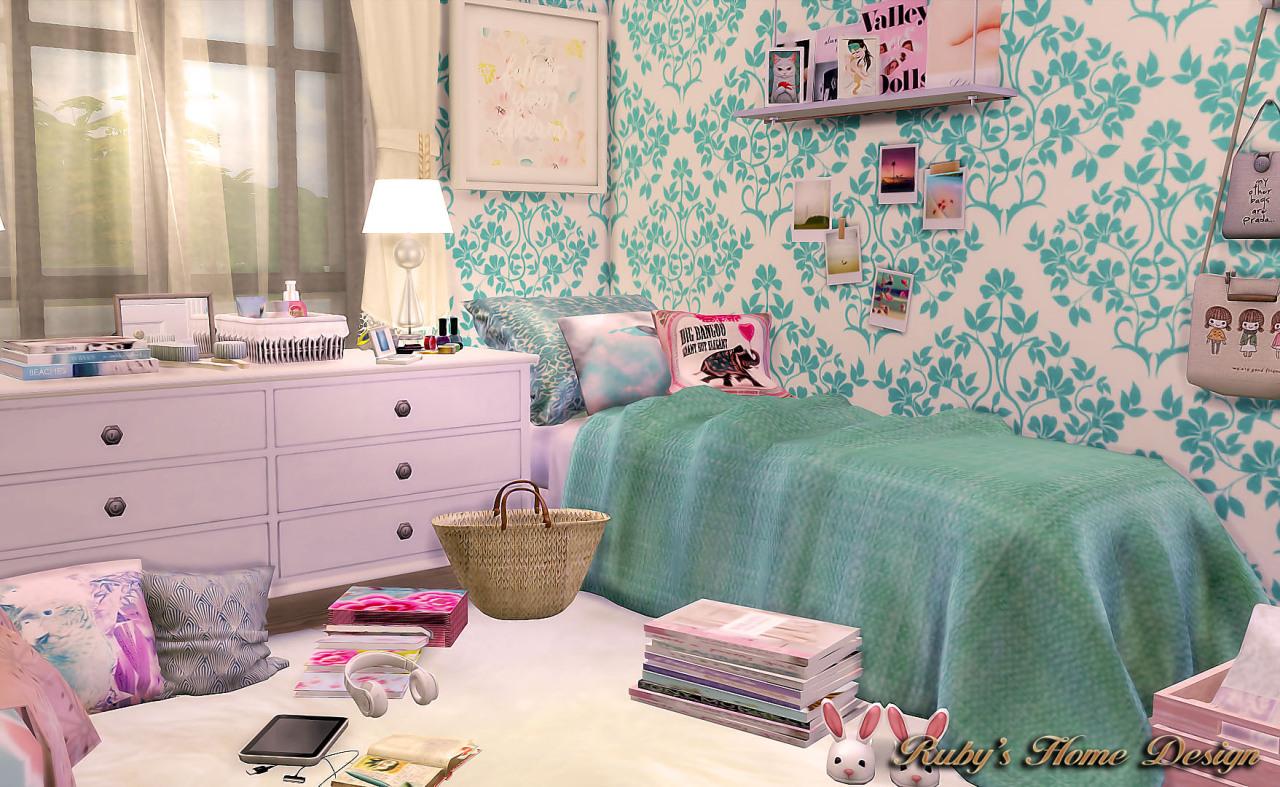 Ruby Red Simblr Teen Girl Bedroom Cc List  E B B E Bc  E B  E  Ae