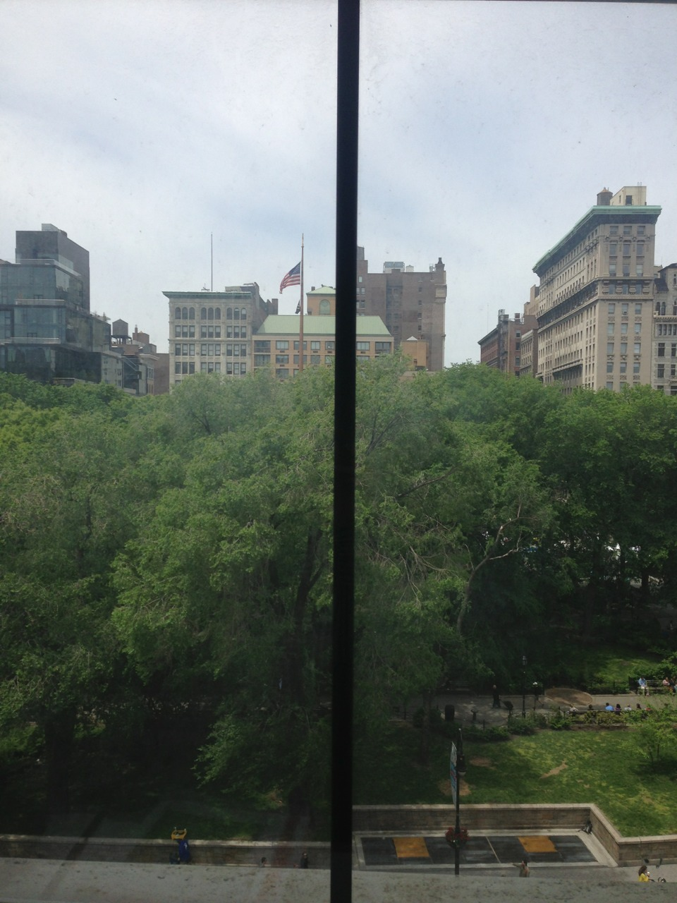 view from the Shake Shack office in Union Sq.