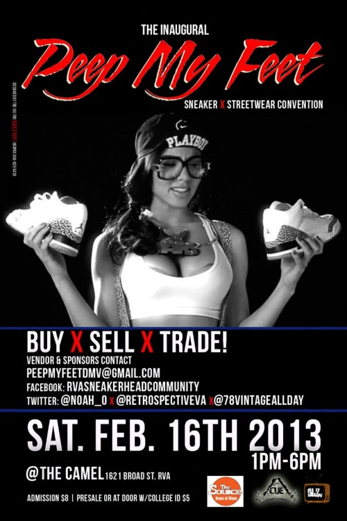 The cant miss sneaker event of the year!  Peep My Feet  sneaker x streetwear convention  https://m.facebook.com/events/list/2013/