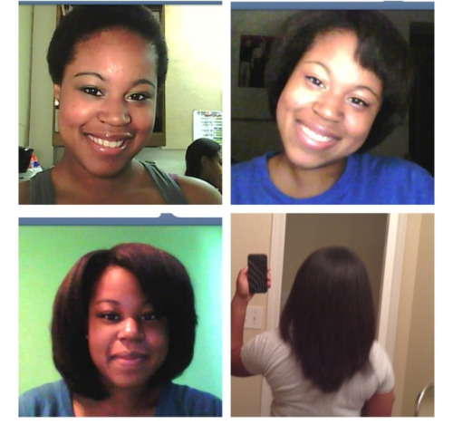 Check out the progression. I big chopped on March 27, 2010. First time I straightened my hair was November 2010. The next picture was November 2011 and the last photo is my hair freshly straightened this week, January 2013. Keep pushing ladies because black hair grows. Patience is a virtue and it just takes time. Almost three years natural.