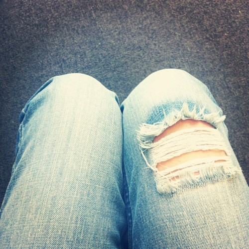 Monday blues. #denim #jeans #rip #monday