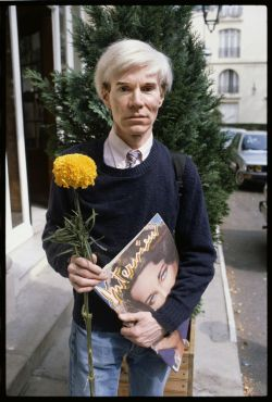 toilandblood:  Previously unseen photographs of Warhol, 1981. © Steve Wood