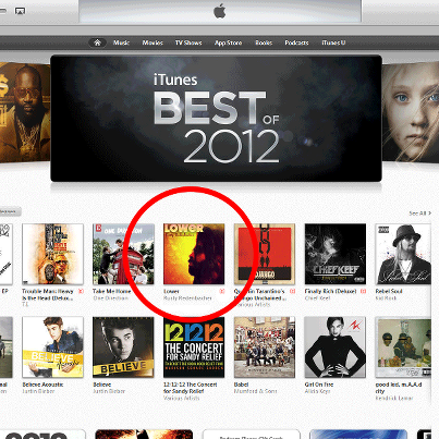 #ATFU getting it…They got #LOWER on the front page of iTunes now, man…wow…Click the pic to go directly to the iTunes page for 'LOWER'.RR