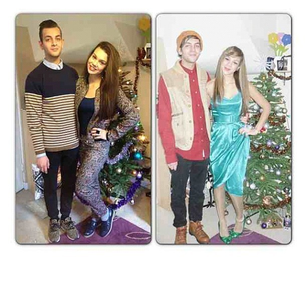 Stolen from my sister. Christmas last year and Christmas this year. The exact same pose each year was unintentional.