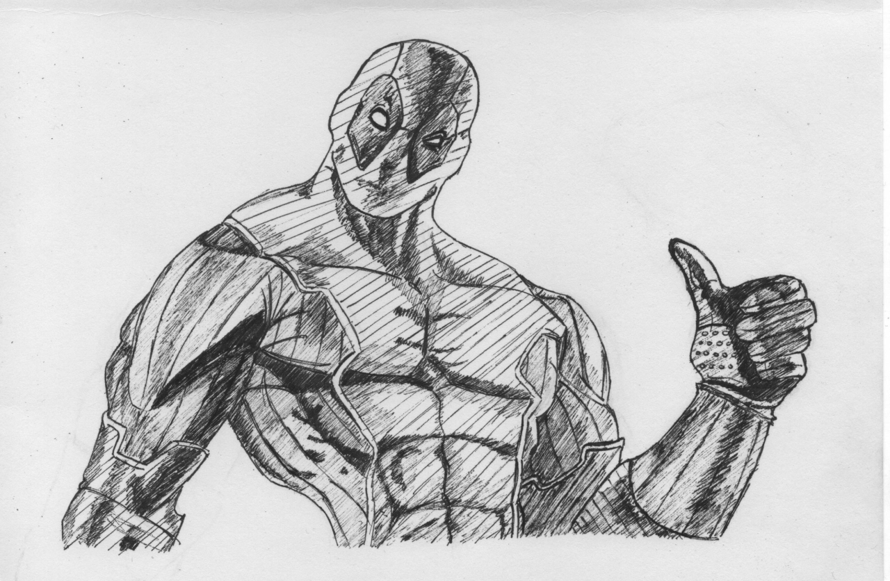 Sketchy Deadpool  Some Liefeld like proportions up in here
