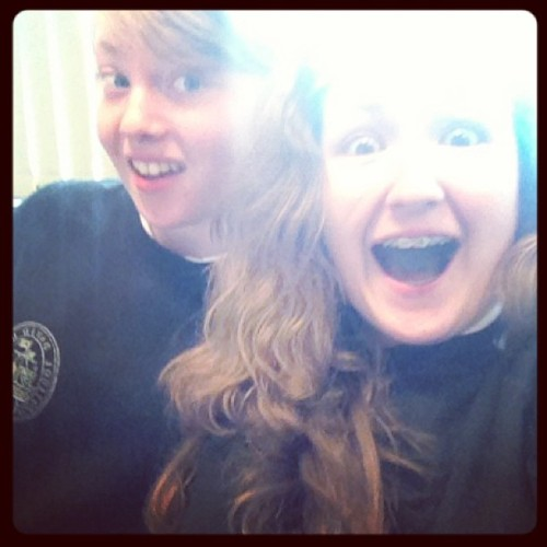 Me and @erinnthomaas #school #stressingmocks #friends #fun