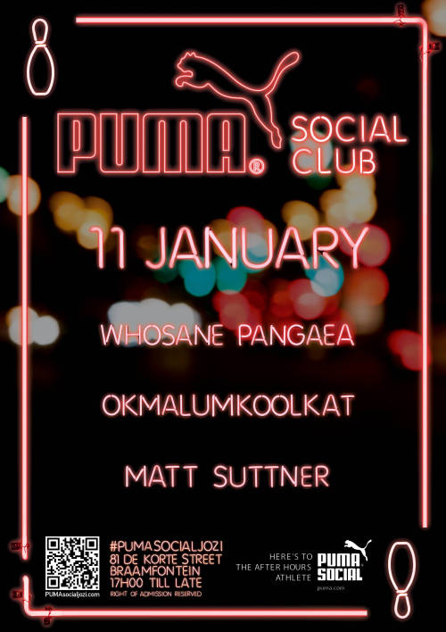 okmalume:  Come thru to the @PUMA #Socialclubjozi tomorrow! I have special guests and m serving the freshest show. Come thru.  I'm there….