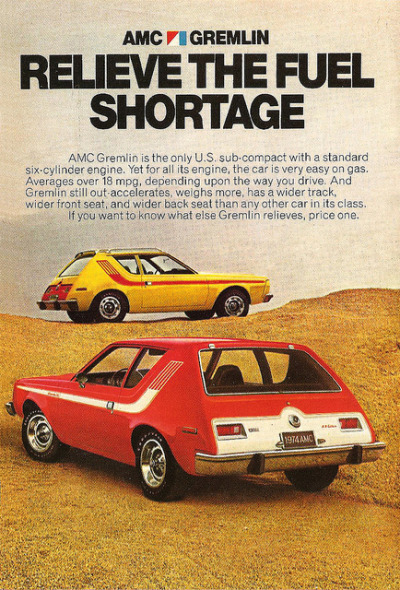chromjuwelen:  1974 AMC Gremlin by That Hartford Guy on Flickr. 1974 AMC Gremlin